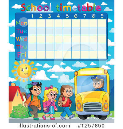 School Timetable Clipart #1257850 by visekart