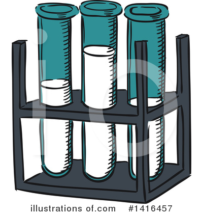 Test Tube Clipart #1416457 by Vector Tradition SM