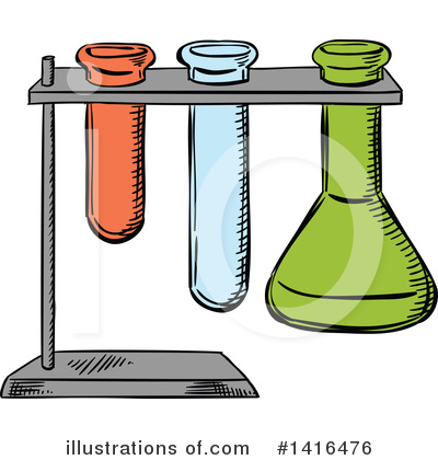 Test Tube Clipart #1416476 by Vector Tradition SM