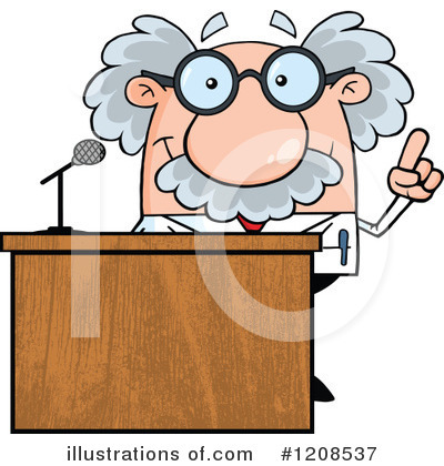 Professor Clipart #1208537 by Hit Toon