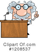 Royalty-Free (RF) Scientist Clipart Illustration #1208537
