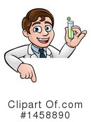 Royalty-Free (RF) Scientist Clipart Illustration #1458890