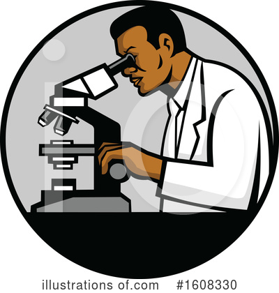 Royalty-Free (RF) Scientist Clipart Illustration by patrimonio - Stock Sample #1608330