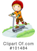 Royalty-Free (RF) scooter Clipart Illustration #101484