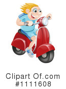 Royalty-Free (RF) Scooter Clipart Illustration #1111608