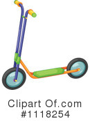 Royalty-Free (RF) Scooter Clipart Illustration #1118254