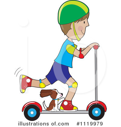 Scooter Clipart #1119979 by Maria Bell