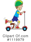Royalty-Free (RF) scooter Clipart Illustration #1119979