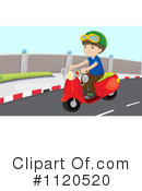 Royalty-Free (RF) Scooter Clipart Illustration #1120520