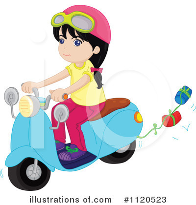 Royalty-Free (RF) Scooter Clipart Illustration by colematt - Stock Sample #1120523