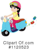 Royalty-Free (RF) Scooter Clipart Illustration #1120523