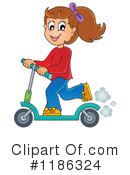 Royalty-Free (RF) Scooter Clipart Illustration #1186324
