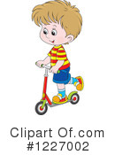 Royalty-Free (RF) Scooter Clipart Illustration #1227002