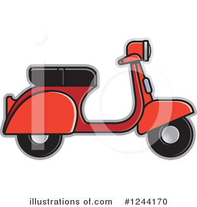 Scooter Clipart #1244170 by Lal Perera