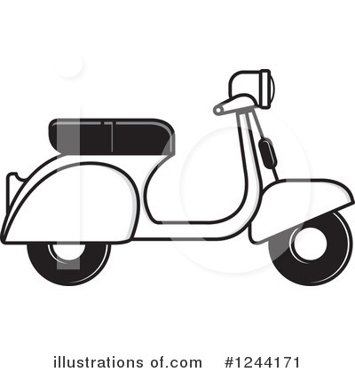 Scooter Clipart #1244171 by Lal Perera