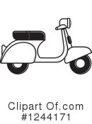 Royalty-Free (RF) Scooter Clipart Illustration #1244171