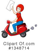 Royalty-Free (RF) Scooter Clipart Illustration #1348714
