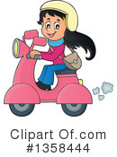 Royalty-Free (RF) Scooter Clipart Illustration #1358444