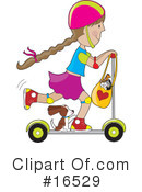 Royalty-Free (RF) Scooter Clipart Illustration #16529