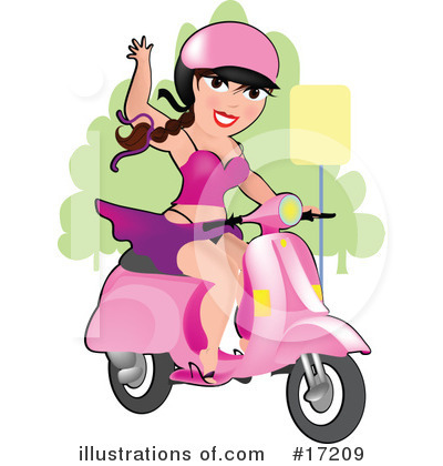 Royalty-Free (RF) Scooter Clipart Illustration by Maria Bell - Stock Sample #17209