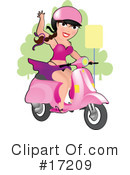 Royalty-Free (RF) scooter Clipart Illustration #17209
