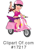 Royalty-Free (RF) scooter Clipart Illustration #17217