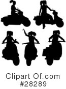 Royalty-Free (RF) Scooter Clipart Illustration #28289