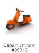 Royalty-Free (RF) Scooter Clipart Illustration #39913
