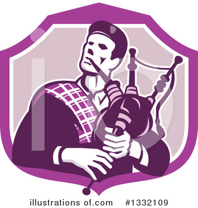Bagpipes Clipart #1332109 by patrimonio