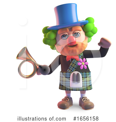 Clown Clipart #1656158 by Steve Young