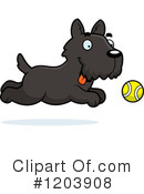 Scottie Clipart #1203908 by Cory Thoman