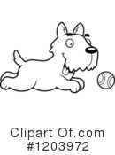 Scottie Clipart #1203972 by Cory Thoman