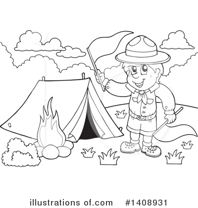 Boy Scout Clipart #1408931 by visekart
