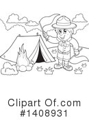 Royalty-Free (RF) Scout Clipart Illustration #1408931