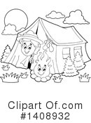 Royalty-Free (RF) Scout Clipart Illustration #1408932