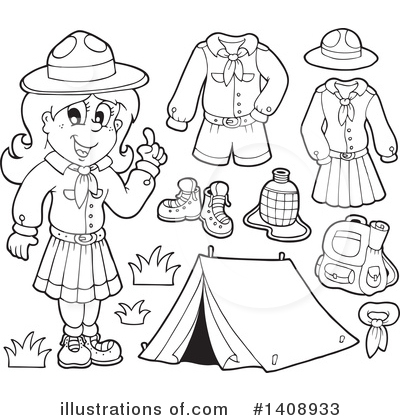 Camping Clipart #1408933 by visekart
