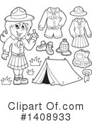 Royalty-Free (RF) Scout Clipart Illustration #1408933