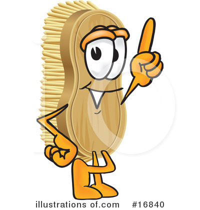 Scrub Brush Character Clipart #16840 by Toons4Biz