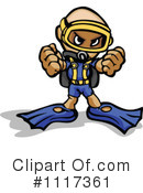 Royalty-Free (RF) Scuba Clipart Illustration #1117361