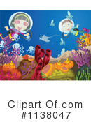 Royalty-Free (RF) Scuba Clipart Illustration #1138047
