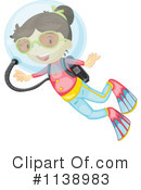 Royalty-Free (RF) Scuba Clipart Illustration #1138983