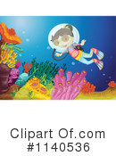 Royalty-Free (RF) Scuba Clipart Illustration #1140536
