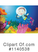 Royalty-Free (RF) Scuba Clipart Illustration #1140538