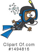 Royalty-Free (RF) Scuba Clipart Illustration #1494816