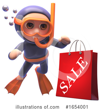 Diver Clipart #1654001 by Steve Young