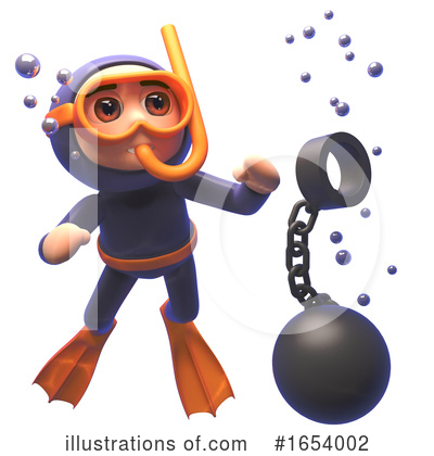 Diver Clipart #1654002 by Steve Young