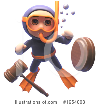Diver Clipart #1654003 by Steve Young