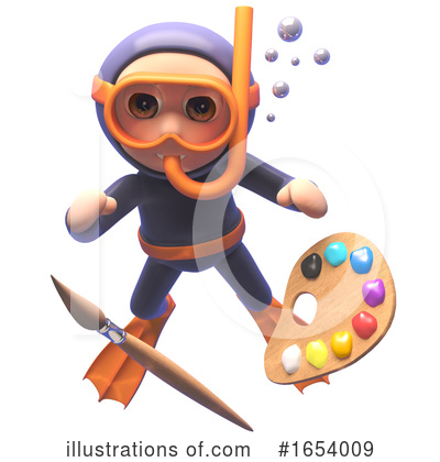 Diver Clipart #1654009 by Steve Young