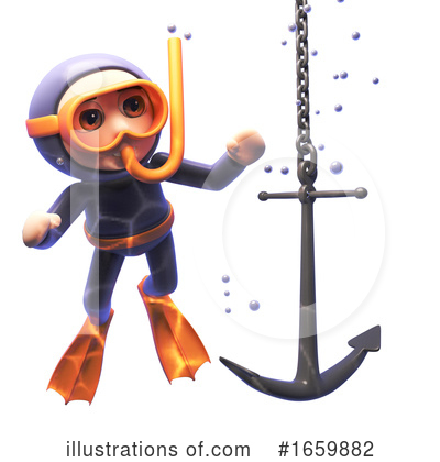 Diver Clipart #1659882 by Steve Young