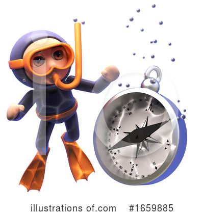 Diver Clipart #1659885 by Steve Young